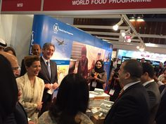 UN Messenger of Peace HRH Princess Haya Bint Al Hussein visits WFP at @DIHAD conference