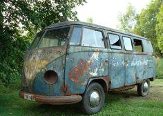 T1 Bus, Volkswagen Bus, Vw T1, Abandon, Mini Bus, Camper, Barn Finds, Bury, Shovel