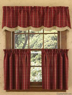 Adamstown Wine Layered Curtain Valance
