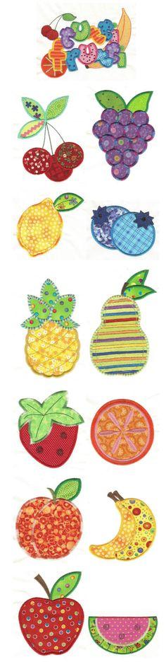 Embroidery   Free Machine Embroidery Designs   Tutti Frutti Applique