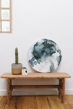 Blue Moon Canvas // Lunar Love shot by Love Made Visible Watercolor Moon, Moon Phases, Blue Moon, Watercolours, Canvas, Artwork, Artist, Table, Furniture