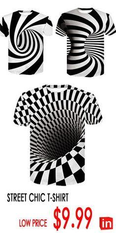 Men's Club Basic / Street chic T-shirt - Color Block Black & White, Print Round Neck White XXL / Short Sleeve / Summer