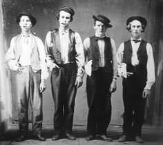 Billy the Kid, Doc Holliday, Jesse James and Charlie Bowdre