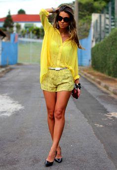 #fashion #fashionista Vanessa giallo Look com amarelo | Decor e Salto Alto