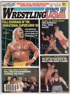 Hulk Hogan WWF WWE Vintage Pro Wrestling USA Magazine May 1986