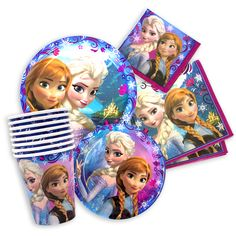 frozen party plates and napkins and cups - party | Five Below  sc 1 st  Pinterest & Paper Plates. www.partyworx.co.uk | Disney Frozen Party | Pinterest ...