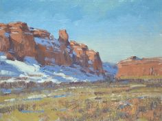 """""""Canyonlands Ahead"""" oil, 9x12 in   23x30 cm. painted on the spot near Moab, Utah."""