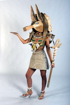 Strode College  -  Somerset UK Cardboard Catwalk 2014 Anubis