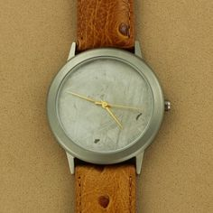 Meteorite Brown Ostrich Leather Men's Watch $325.00
