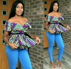 Latest Ankara Blouse Styles For Jeans/Ankara Pant Skirt,short And Wrap African Wear Dresses, Latest African Fashion Dresses, African Print Fashion, Africa Fashion, African Attire, Ankara Fashion, African Clothes, African Prints, African Fabric