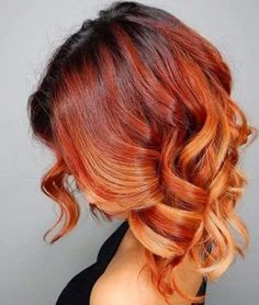 Bakır Rengi Ombre Saç Modelleri