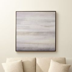 Shop Serenity Rising Canvas Print.  Veils of tonal greys quietly pulsate in James McAllen's serene abstraction, capturing the sense of calm and solitude the artist felt when visiting Thailand's Wat Suthat temple.