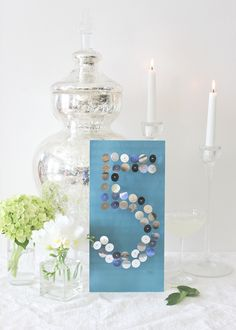 #DIY wedding table number up the glamour at the reception.