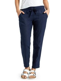 South Africa - linen ankle pant (in gray)