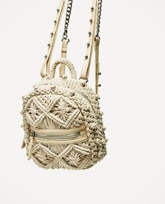 Image 3 of FABRIC BACKPACK from Zara