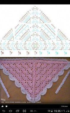 Best 12 Crochet hand made mini shawl azure sea – Artofit – Page 725220346221390428 – SkillOfKing. Poncho Au Crochet, Crochet Diy, Crochet Motifs, Crochet Quilt, Crochet Diagram, Crochet Stitches Patterns, Crochet Chart, Crochet Scarves, Crochet Doilies