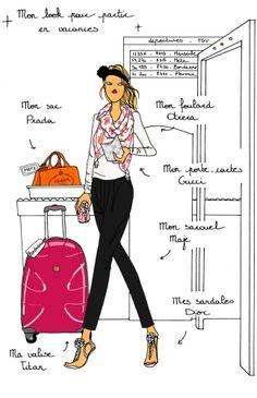 Do it in Paris - Airport by Angeline Melin #fashion #illustration #Paris