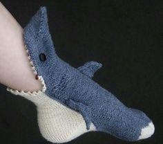 Man eating shark socks