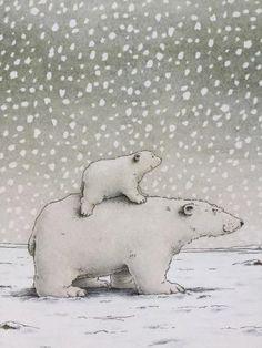 I libri che ci hanno accompagnato nella prima settimana dell'Avvento...le Galline e la neve!
