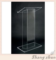 Acrylic Portable Desktop Lectern Custom Perspex Church Podium/Pulpit