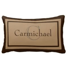Shop Modern Khaki/Brown Monogram Name Accent Pillow created by cutencomfy. Personalize it with photos & text or purchase as is! Monogram Pillows, Pink Pillows, Baby Pillows, Custom Pillows, Accent Pillows, Decorative Pillows, Throw Pillows, Christmas Gifts For Kids, Best Dad