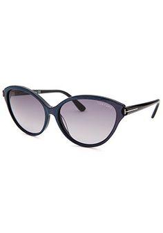 Tom Ford Women's Priscila Cat Eye Purple Sunglasses