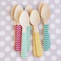 Bright Chevron Ice Cream Spoons