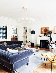 Those tufted sofas!