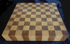 Maple and Walnut End Grain Cutting Board
