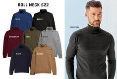 Essential Knitwear | Roll Neck - Charcoal - Size M or L