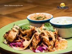 #gastronomiademexico Prueba los tacos de pulpo a las brasas en el restaurante Elcano Diamante de Acapulco. GASTRONOMÍA DE MÉXICO. El pulpo es un alimento que además de ser exquisito, es bueno para combatir enfermedades como el asma, la bronquitis, la arritmia cardíaca y muchas otras y lo puedes probar en tacos a las brasas con deliciosas salsas en Elcano Diamante. Visita la página de Fidetur, Acapulco para obtener más información.