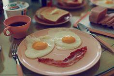 Eggs, bacon, sausage, toast danish coffee and a kiss! Mornin Breakfast