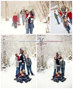 Family Photos in the Snow