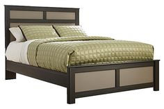 """The Wellatown Panel Bed from Ashley Furniture HomeStore (AFHS.com). The Metro Modern style of the """"Wellatown"""" bedroom collection features a stylish contemporary look with a two-tone gray finish over replicated oak grain perfectly complementing the matte gray finished panels creating a stream-lined furniture collection that is sure to awaken the décor of any bedroom."""