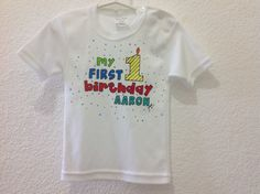 Playera Firts Birthday Aaron, by Jenny
