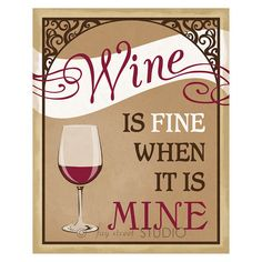 Wine Art Print 8x10 by faystreetstudio on Etsy, $18.00