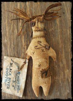 "Black River Roots ""Rootfolk"" Voodoo Doll, Rag Doll, Primitive Doll"