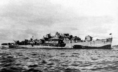 USS TABBERER DE-418 as she looked following the Typhoon of December 1944. -U.S. Navy photo reproduced from Halsey's Typhoon, Drury and Clavin