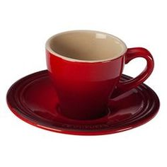 Le Creuset 2 Oz. Espresso Cup & Saucer (Set of 2)