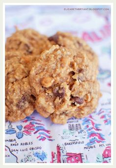 everything cookies: coconut, chocolate, butterscotch, peanut butter, oatmeal