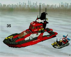 Thousands of complete step-by-step printable older LEGO® instructions for free. Here you can find step by step instructions for most LEGO® sets. Lego Instructions, Step By Step Instructions, Lego City Truck, Lego Boat, Lego Group, Lego Sets, Legos, Boats, Creations