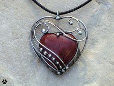 Srdce z jaspisu - mookait
