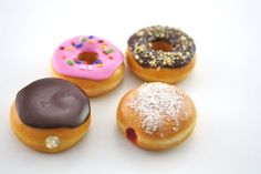 Doughnuts Chocolate Iced Cream Jelly Filled Food for by pippaloo