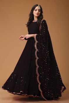 :- Georgette Work :- Foil mirror less Flair :- 3 meter Size :- 44 to up (semi stiched) Colure. :- Georgette Work :- Foil mirror less with mirror Indian Fashion Dresses, Indian Gowns Dresses, Dress Indian Style, Indian Designer Outfits, Pakistani Dresses, Bridal Anarkali Suits, Salwar Suits, Lehenga Designs, Kurti Designs Party Wear