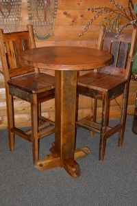 Delightful Cherry Wood Bar Table and