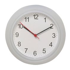 "RUSCH Wall clock, white  $1.99  9 ¾ ""d  Great base to tweak or use for parts"