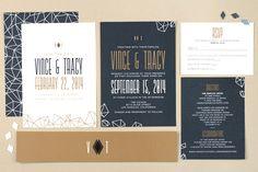 Wedding Stationary. Featured artist Karina Ramos @Love vs. Design