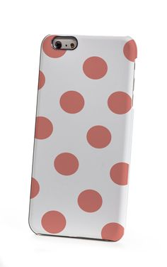 Coral Polka Dots iPhone 6 Case by shoppronetowander