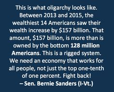 Thanks Bernie.  Why are we listening to Republicans instead of this guy?