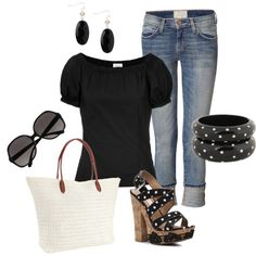 """""""summer polka dot"""" by cami-woods-aley on Polyvore"""